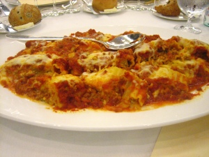 The worst lasagna I think I've ever had.
