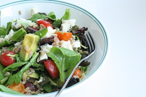 recipe for warm farro salad